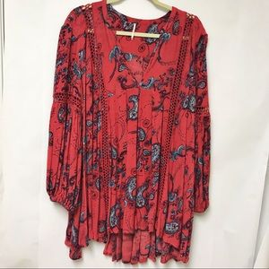 Free people Boho/crochet tunic top/dress - floral